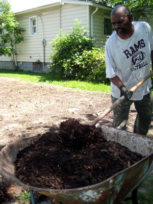 Prepping Mulch